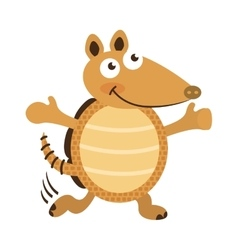 armadillo cute character icon vector image