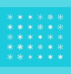 big set of snowflakes winter christmas xmas vector image