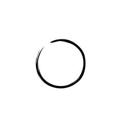 black zen circle watercolor logo sign icon vector image