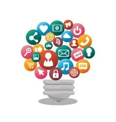 bulb social media isolated icon design vector image