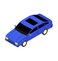 Car isometric icon vector