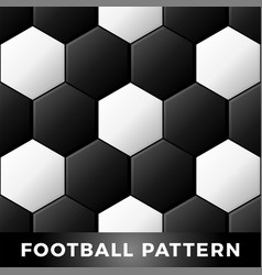 classic black and white soccer ball seamless vector image