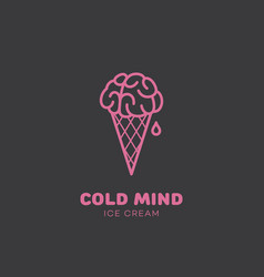cold mind vector image