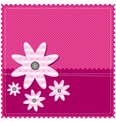Congratulation card with flower vector