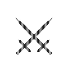 Crossed swords sign vector image