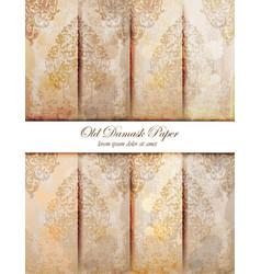 damask pattern texture royal fabric vector image