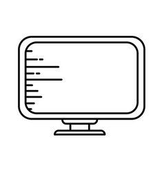 desktop computer technology vector image