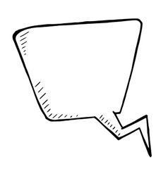 doodle isolated speech bubble hand drawn vector image vector image
