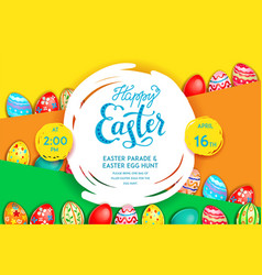 easter invitation poster vector image