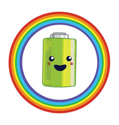 Emblem for battery recycling vector