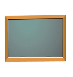 Empty school blackboard vector