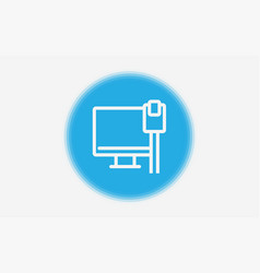 Ethernet icon sign symbol vector