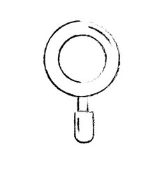 figure magnifying glass search and exploration vector image