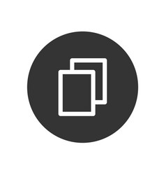 file icon in modern style for web site and mobile vector image