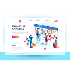 finance infographic analytics concept vector image