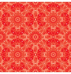 geometric floral background vector image