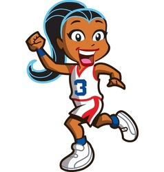 Girl Basketball Player vector image