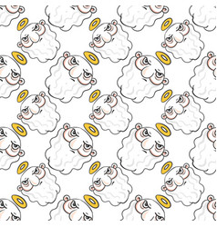 God seamless pattern on white background vector