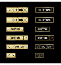Gold web buttons vector image
