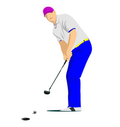 Golf player poster vector