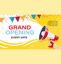 Grand opening banner template advertising design vector