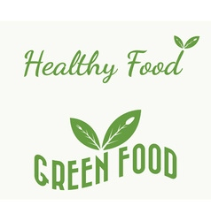 green and healthy food vector image