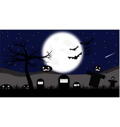 Halloween themed landscape vector
