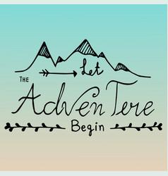Hand drawn unique typography design of adventure vector