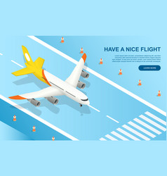have a nice flight concept with plane vector image
