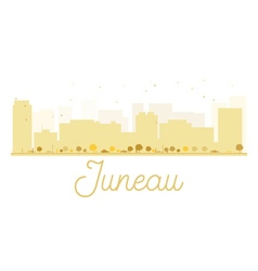 Juneau City skyline golden silhouette vector