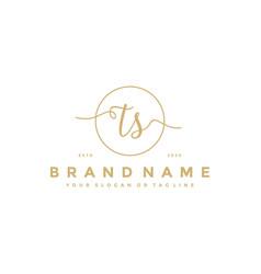 Letter ts feminine logo design vector