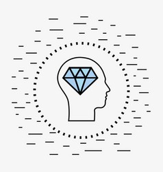 Line silhouette head concept mental health vector