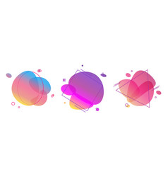 liquid abstract color badges set bright trendy vector image