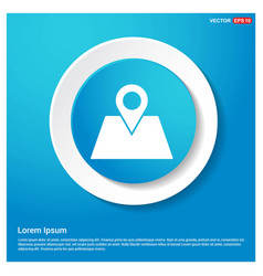 map with pointer icon abstract blue web sticker vector image