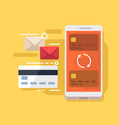 mobile payment and card vector image