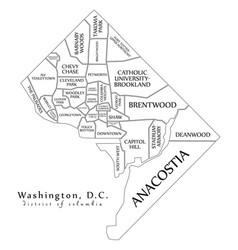 Modern city map - washington dc city of the usa vector