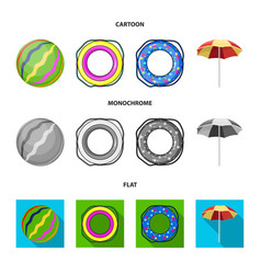 Multicolored swimming circle cartoonflat vector