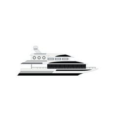 Nautical motor yacht isolated on white background vector