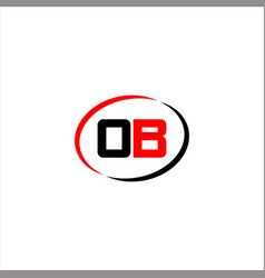 O b joint letter logo emblem design vector