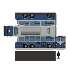 Paper model of a vintage large bus vector