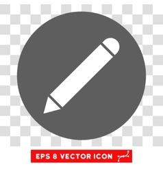 Pencil Round Eps Icon vector