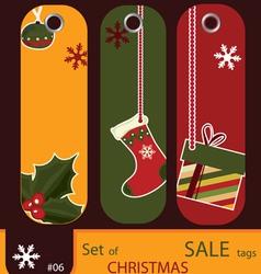 price tags for christmas vector image