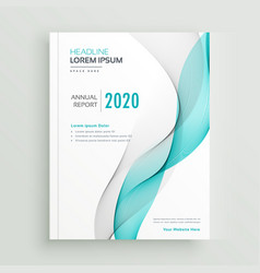Professional business brochure or book cover vector