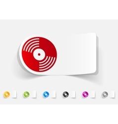 realistic design element vinyl record vector image