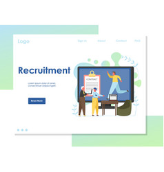 recruitment website landing page design vector image