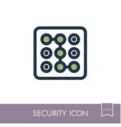 Security code icon phone lock vector