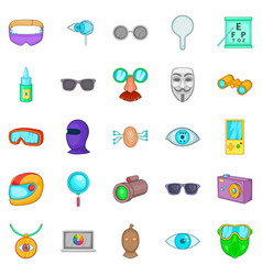 Semblance icons set cartoon style vector