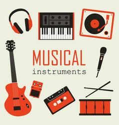 Set music instruments vector