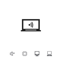 Set of 5 editable computer icons includes symbols vector