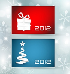 Set of christmas new year banners cards vector